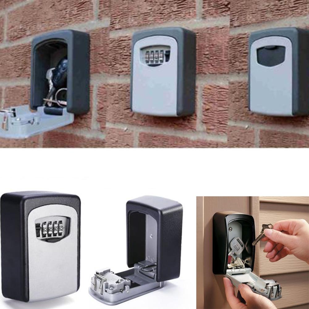 Wall Mount Key Lock Storage Box With 4 Digit Combination Password Outdoor  Door