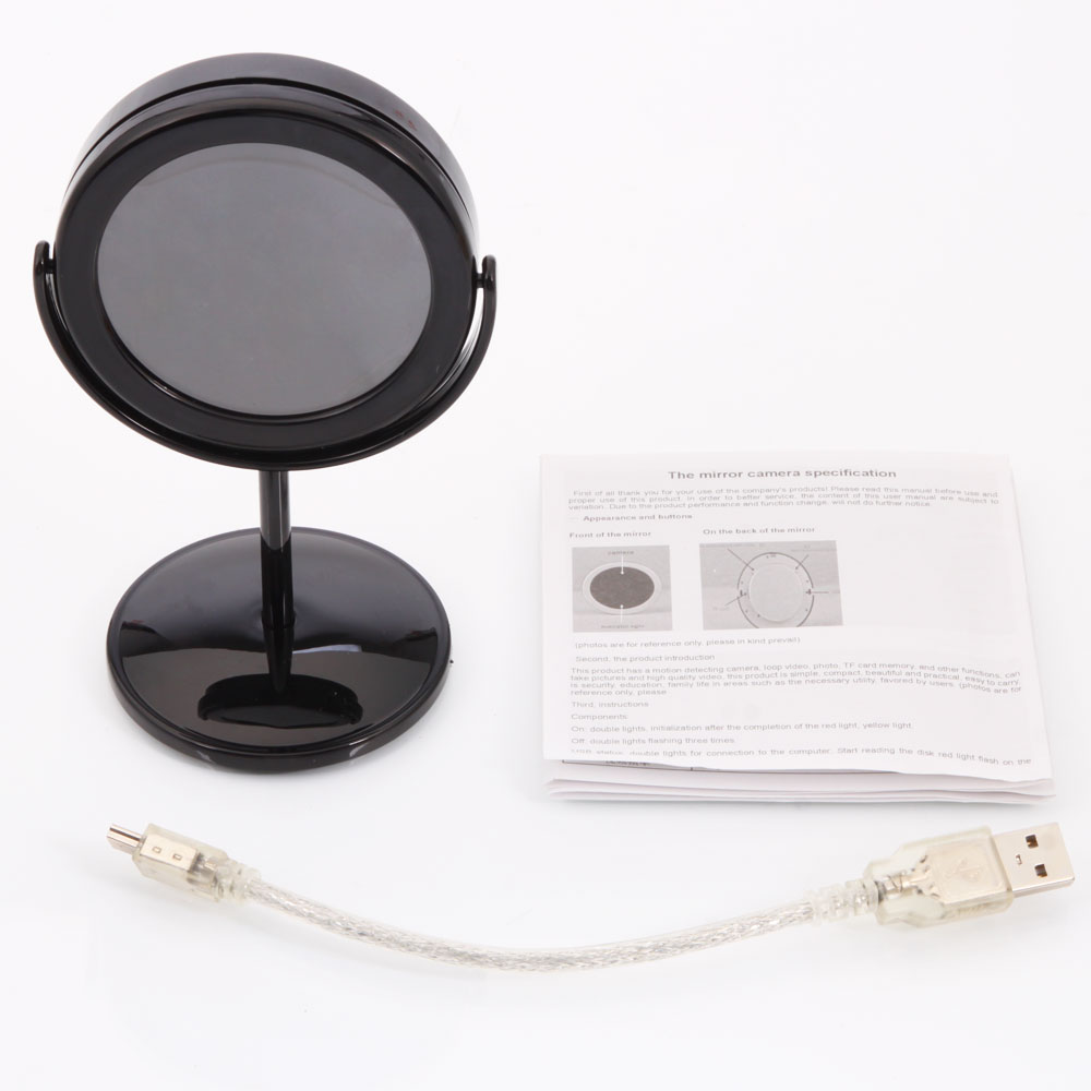 mirror camera mini dvr 720 480 remote operating hidden spy. Black Bedroom Furniture Sets. Home Design Ideas