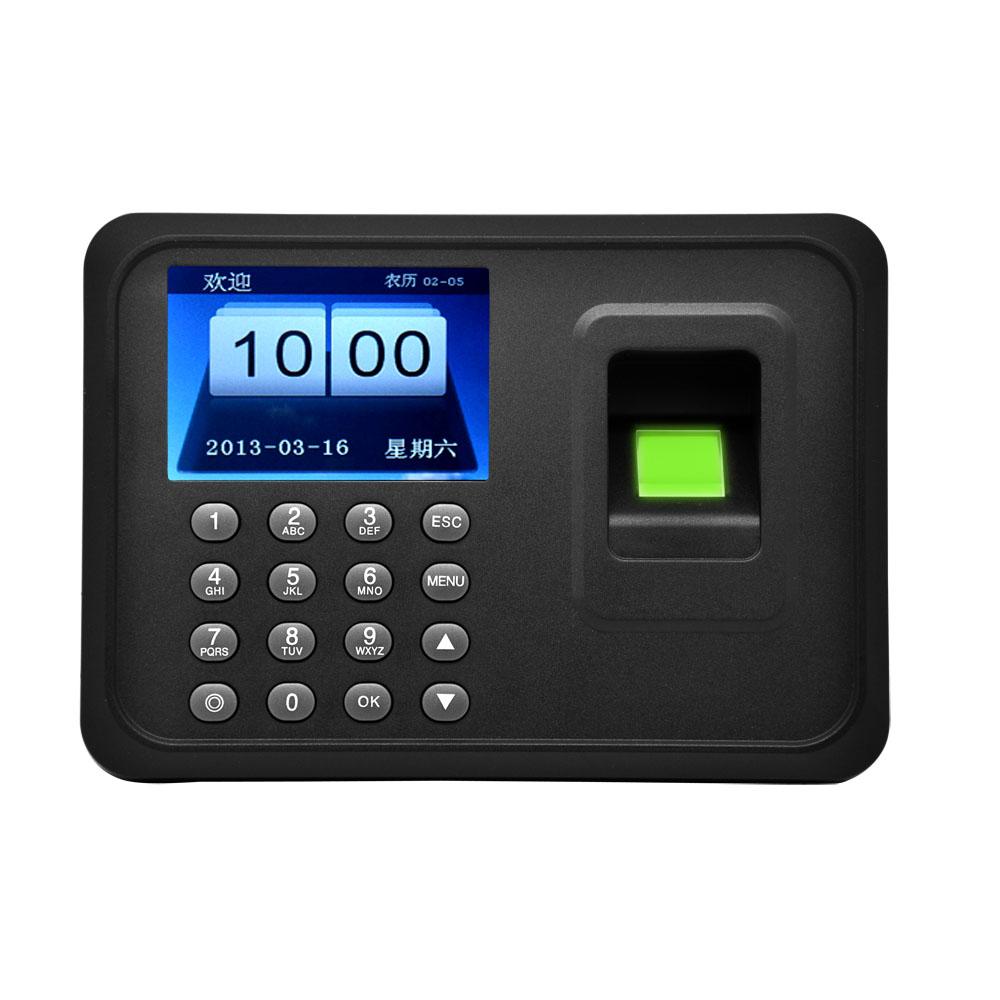 A6 2 4 Quot Biometric Fingerprint Time Clock Attendance Machine