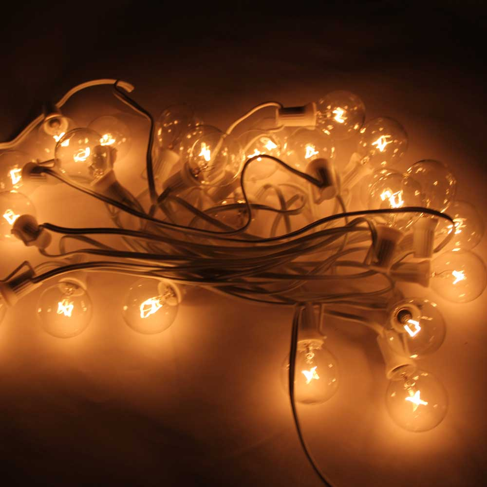 String Lights G40 : G40 25PCS Clear Bulbs Outdoor Globe Patio Garden Yard String Lights w/ Lamp Wire eBay