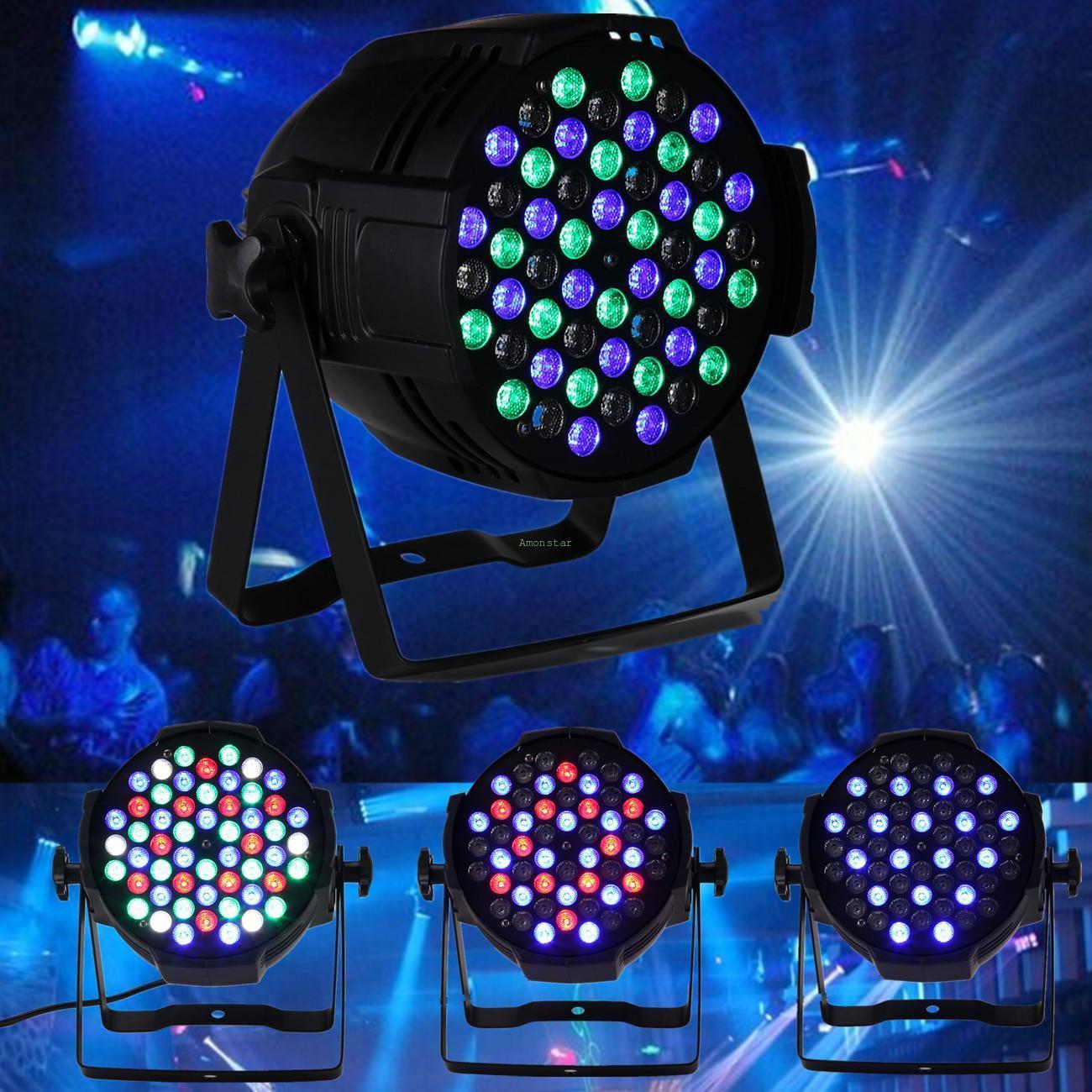 dj bar disco par64 54x3w led stage lighting rgbw dmx 512 party club strobe lamp ebay. Black Bedroom Furniture Sets. Home Design Ideas