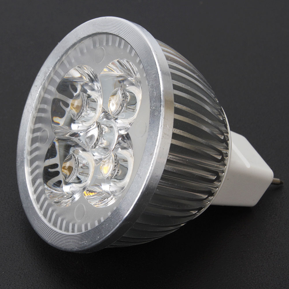 Led Spotlight Light Bulbs: 5PCS MR16 4W 12V Warm White LED Spotlight Bulb Lamp Spot