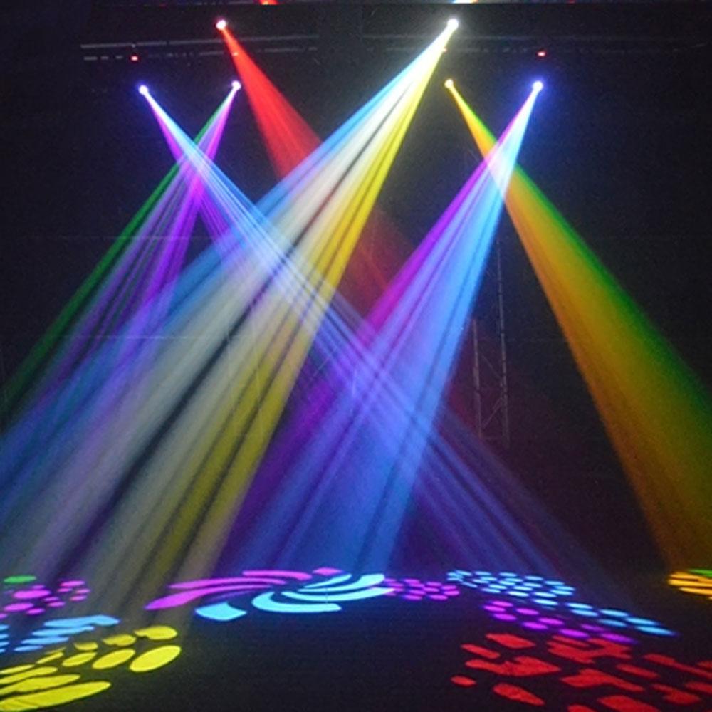 4pcs DMX 30W Moving Head Stage Light Lighting Gobo Pattern