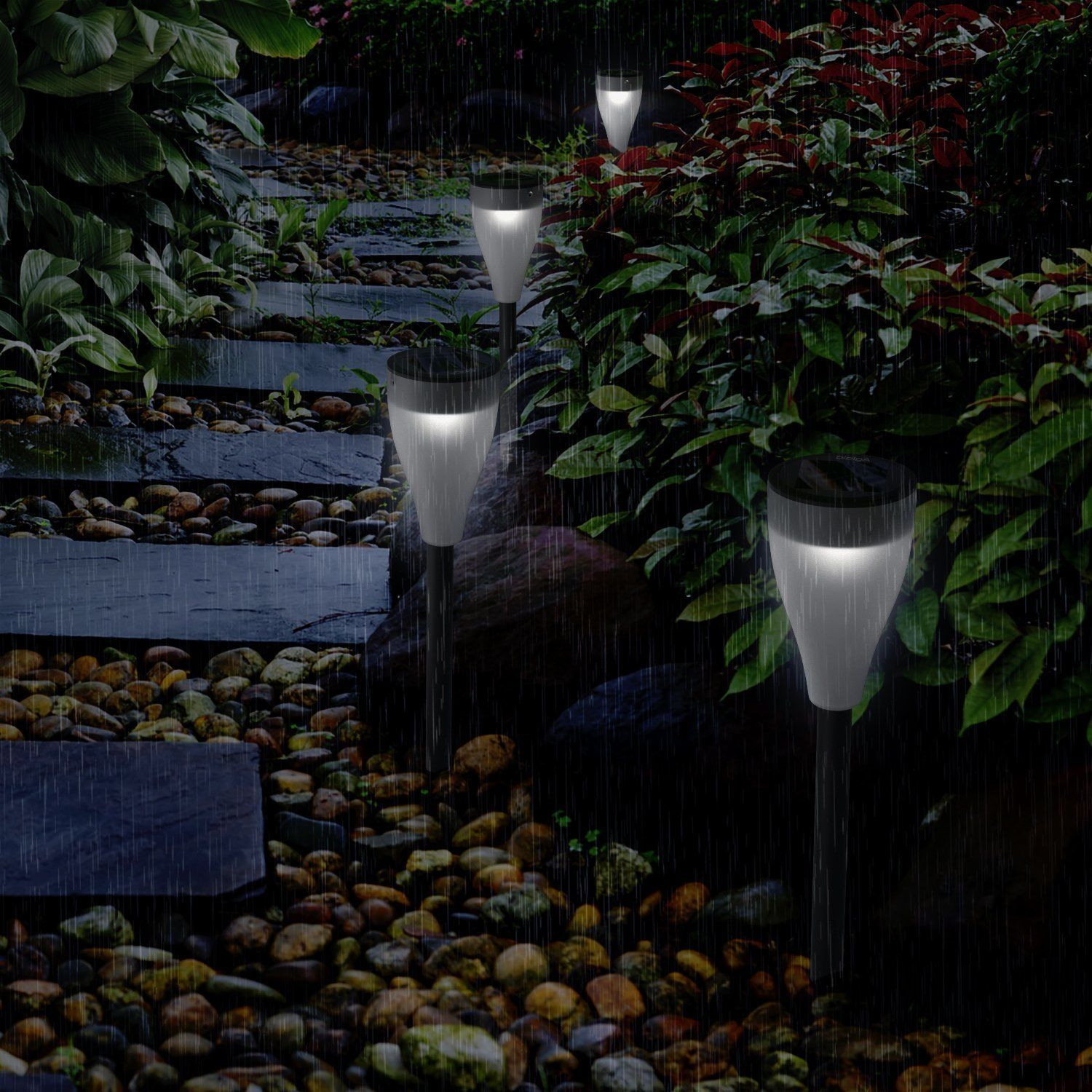 6PCS LED Color Changing Solar Lights Outdoor Garden Lawn Light 7 Colors 3  Modes